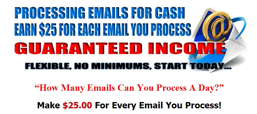 Get paid cash to process emails free